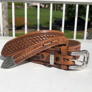 Nacona leather western belt